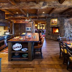 Log Home Kitchen dream kitchen!!!!!
