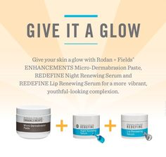 Are you ready for your skin to glow? Contact me for a free skincare consult. If you become one of my VIP preferred customers I will treat you to a Rodan + Fields mini facial.