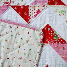 Handmade baby girl chevron quilt