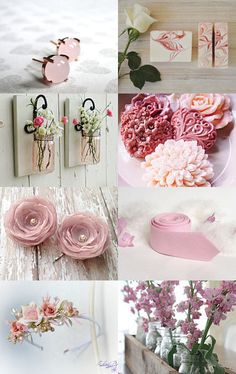 Prettiest Gifts by Andrea Dawn on Etsy--Pinned with TreasuryPin.com Felt Flowers, Pretty In Pink, Dawn, Lavender, Palette, Place Card Holders, Weddings, Etsy, Fashion