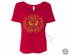 ChiO Slouchy Crest Foil Tee