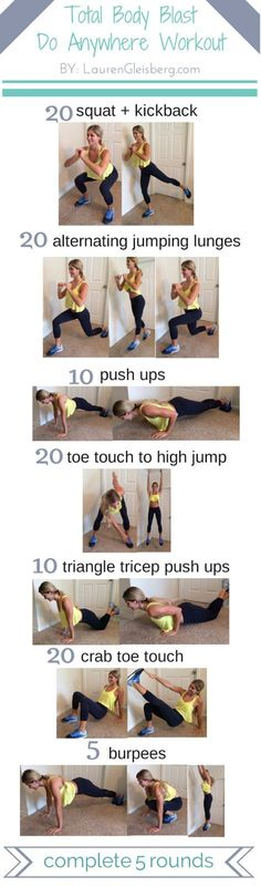 Another workout you can do anywhere by @LaurenGliesberg #fitness #workout #exercise #fitnessathome