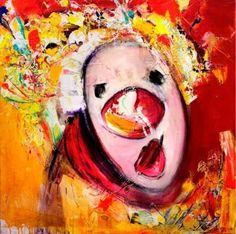 Clown Images, Edvard Munch, Amazing Art, Fine Art, Texture, Clowns, Abstract, Canvas, Kunst