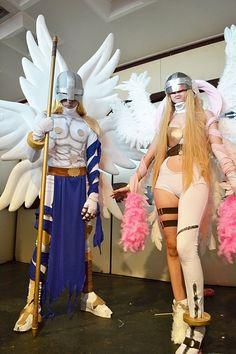 Digimon cosplay - angemon and angewoman!