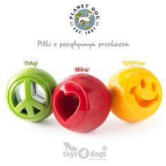 Świeżutkie, pachnące nowością (i miętą) śliczne piłeczki z przesłaniem!  tylko w toys4dogs.pl !!   #piłkadlapsa #planetdog #toys4dogs