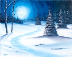 Easy Winter Scenes To Paint