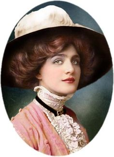 """Hat lady - this """"Hat Lady"""" is Lily Elsie. Images Vintage, Vintage Pictures, Vintage Photographs, Vintage Glamour, Vintage Beauty, Vintage Ladies, Anos 20s, Lilie Elsie, Edwardian Fashion"""