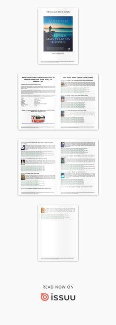 Baixar o homem mais feliz da história livros (pdf, epub, mobi) por augusto cury Philip Roth, Me Equivoco, Reading, Books, Anna, Bento, Evans, Books To Read, Snood
