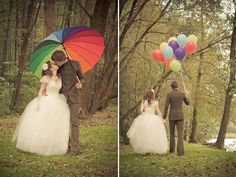 colorful rainbow wedding