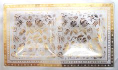 Vintage 1950s Georges Briard Glass Persian Garden Tray w/ 2 sections by retrowarehouse on Etsy