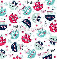 depositphotos_23205650-Vector-seamless-pattern-of-sailor-boats.jpg (435×449)