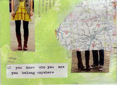 belong (flb quote postcard)