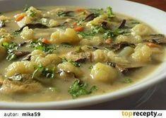 Květáková polévka se sušenými houbami recept - TopRecepty.cz Weight Loss Smoothies, Food 52, Cheeseburger Chowder, Paleo, Food And Drink, Treats, Cooking, Recipes, Soups