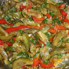 Spicy Thai Eggplant & Capsicum with Basil