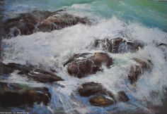Artwork >> Breton Michel >> Submergé Pastels, Artworks, Insects, Waves, Outdoor, Outdoors, Outdoor Living, Garden, Wave