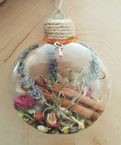 New Home Blessing Ornament - Witch Ball - Herbal Blessing - Yule Decor - House Protection Spell - Tree Ornament - Wiccan - Pagan(Diy Art For Bedroom) Holiday Crafts, Christmas Crafts, Christmas Bulbs, Pagan Christmas Tree, Yule Decorations, Christmas Decorations, Bijoux Wiccan, Wiccan Crafts, Yule Crafts