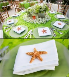 Tropical tablescape with starfish    Repinned by Moments Photography http://www.MomentPho.com