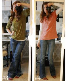 """from """"what i wore"""" :: JDC Love Her Style, Style Me, Jean Outfits, Cute Outfits, Flare Jeans Outfit, Jones Design Company, More Cute, Wide Leg Jeans, Fashion Plates"""