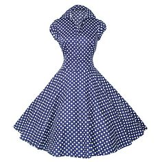 Maggie Tang Women's 50s VTG Retro Polka Dots Rockabilly Hepburn Pinup Cos Party Swing Dress 512 – USD $ 54.99
