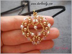 Golden Heart Pendant/ Charm (PD009)   Craftsy