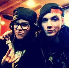 Andy and Sandra :) the old drummer of bvb