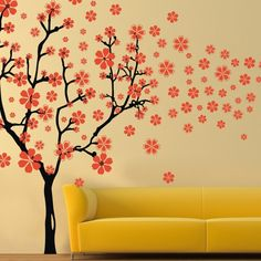 Cherry Blossom Wall Decal Flower Vinyl Wall Art by Nature Style Tree Decal Baby Nursery D¨¦cor 80'H X 120'W ** Special  product just for you. See it now! (This is an amazon affiliate link. I may earn commission from it)