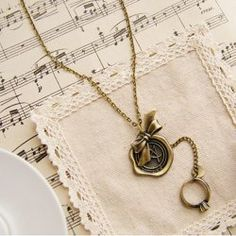 $3.89 Delicate Retro Style Butterfly Shape Pendant Sweater Chain Necklace For Women