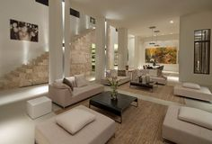 Interior aspect of a residential house, currently for sale in Bel Air, California USA.