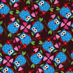 I love this fabric! Sewing Tips, Sewing Hacks, Sewing Tutorials, True Up, Owl Wallpaper, Owl Fabric, Fabric Patterns, Kids Rugs, Scrapbook