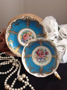 Beautiful Paragon bone china cabinet cup and by betuwouldlikeit