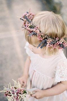 Waxflower & Lavender flower crown for spring flowergirl