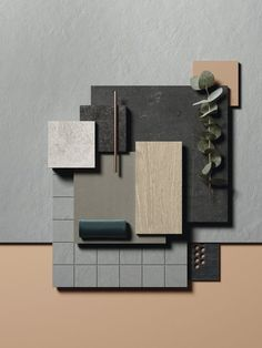 In the world of creativity, we need to feel constantly inspired and nothing better than a moodboard A moodboard is always an inspiration to interior design! Material Board, Home Material, Mood And Tone, Design Palette, Colour Board, Home Design, Design Design, Brand Design, Modern Design