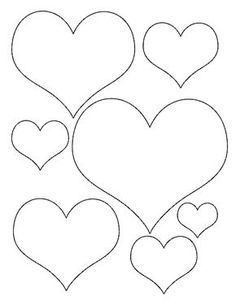Heart-Template various sizes.jpg - File Shared from Box Felt Crafts, Diy And Crafts, Crafts For Kids, Paper Crafts, Butterfly Template, Flower Template, Crown Template, Leaf Template, Felt Flowers