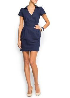 Mango Women's Shirt Dress, 10, Navy Mango, http://www.amazon.com/dp/B007SP2SMI/ref=cm_sw_r_pi_dp_67RVpb1HKZGMN