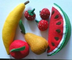 Fruits from felt for children #Handmade