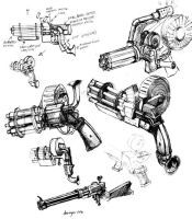 steampunk weapons by sonofamortician