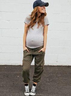 Style casual + ventre rond = le bon mix (pantalon Target - blog The Daybook)