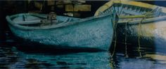 """yellow n viridian dories 14"""" x 30"""" micheal zarowsky watercolour on arches paper / private collection"""