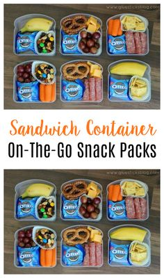 Now that school is out for the summer, turn those plastic sandwich containers into the perfect on the go snacks for outings to the park, the beach, or on car rides! snacks for traveling 10 Easy Meals to Take on Long Car Rides Beach Snacks, Beach Meals, Kid Snacks, Snacks Road Trip, Road Trips, Road Trip Essen, Lunch Saludable, Kids Lunch For School, Cold Lunch Ideas For Kids