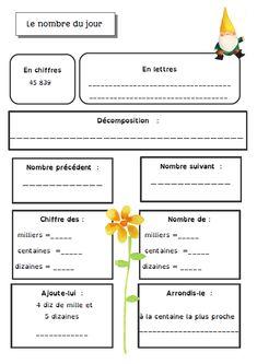 maths1 Math 5, Teaching Math, Teaching Ideas, Cycle 3, French Immersion, Fractions, Math Activities, Behavior, Management