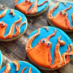 Finding dory cookies! #findingdory #sugarcookies #deocratedcookies #octopus