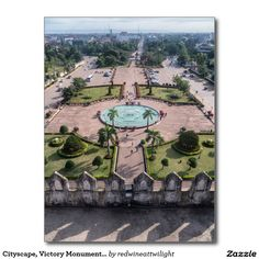 Cityscape, Victory Monument Courtyard, Vientiane Postcard