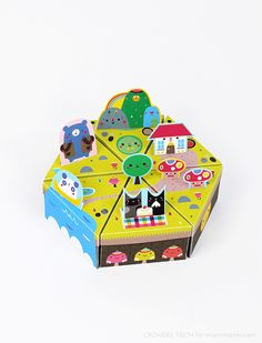 paper toy to print & make designed by Crowded Teeth for Mr Printables