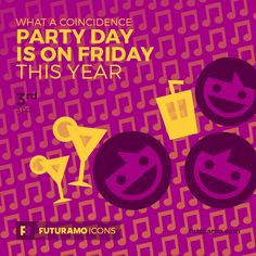 Party Day is on Friday this year! Check out our FUTURAMO ICONS – a perfect tool for designers & developers on futuramo.com