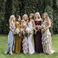 Mermaid Wedding Dresses This It Girl's Mermaid Wedding Dress Took 113 Hours to Create - Rocky Barnes just got married wearing a beautiful Spanish brand everyone should know. See the photos. Mismatched Bridesmaid Dresses, Wedding Bridesmaids, Wedding Dresses, Mustard Bridesmaid Dresses, Bohemian Bridesmaid, Party Dresses, Bridesmaid Inspiration, Wedding Inspiration, Wedding Ideas