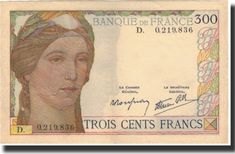 300 Francs 1938 France 300 F ✓ Coins and Coin Collecting ✓ MA-Shops warranty with certified dealers ✓ Coins, medals and banknotes from ancient to modern. French Franc, Coin Collecting, Rue, Twitter, Paper, Pictures, People, Report Cards, Coins