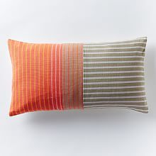 Steven Alan Colorblocked Ribbon Pillow Cover - Sunglow