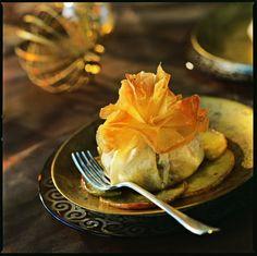 Aumônières au boudin blanc et aux pommes fruits