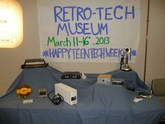 Retro-tech museum for teen tech week. Can they recognize what these items were used for?*** just Pic*** Library Week, Teen Library, Library Ideas, Library Boards, Teen Programs, Library Programs, Middle School Libraries, 21st Century Learning, School Librarian