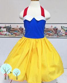 Snow White Inspired Dress, Snow White Costume Dress, Coplay, Pretend, Dress-up, Custom Children Sizes, Disney Vacation, Princess